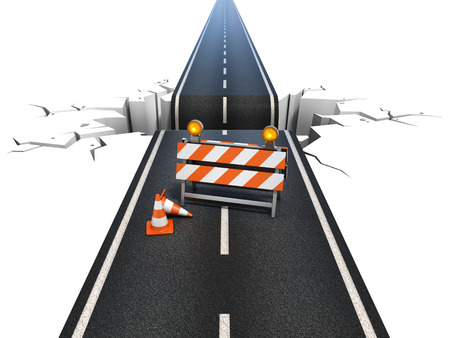 obstacle: road under construction