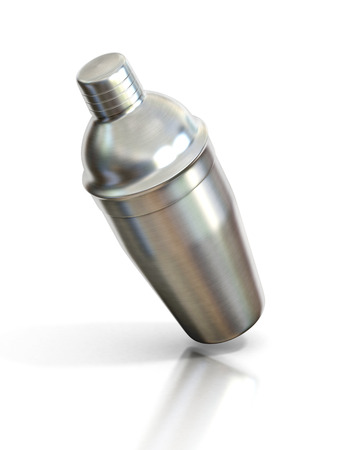 martini shaker: cocktail shaker isolated on a white background Stock Photo
