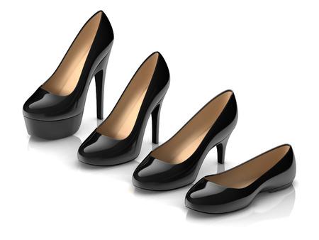 heels: set of different high heel shoes