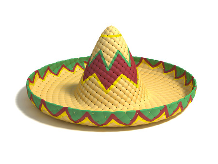 party hat: mexican hat sombrero 3d illustration