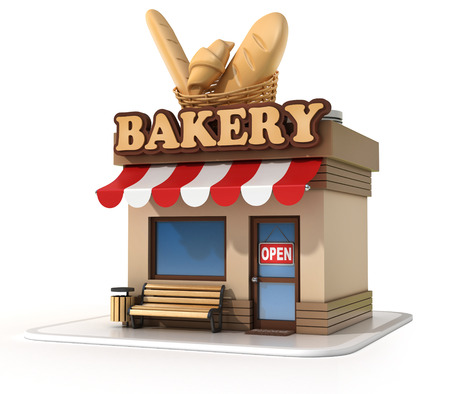 store front: bakery 3d illustration Stock Photo