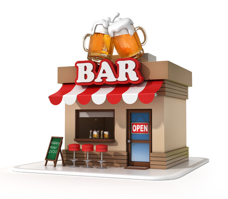 bars: bar 3d illustration