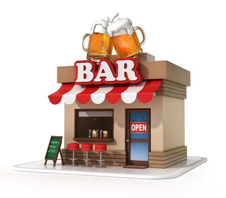 contadores: bar ilustraci�n 3d Foto de archivo
