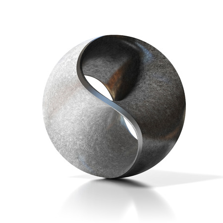 zen stone: yin yang abstract modern sculpture