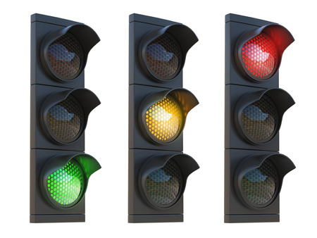 icon red: traffic light 3d illustration