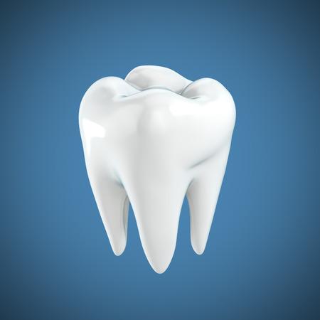 dientes caricatura: diente 3d ilustración