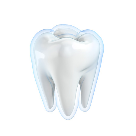 carious cavity: teeth protection 3d concept