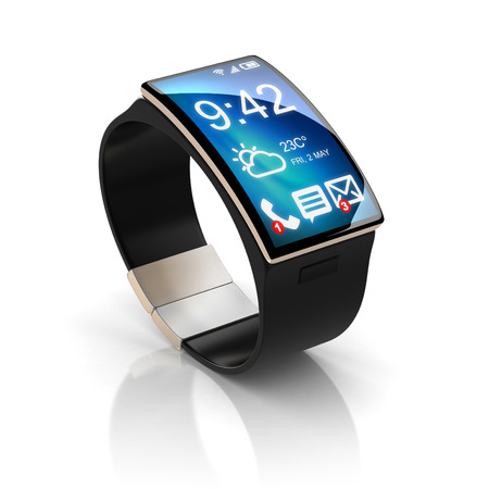 smart phone hand: smart watch