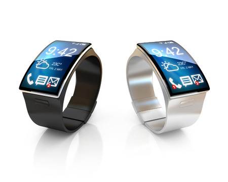 watch: smart watches 3d illustration Stock Photo