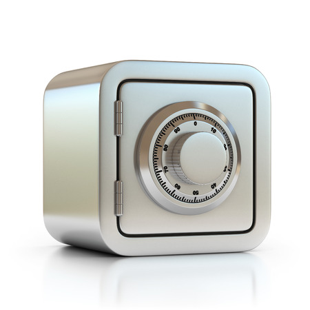 bank protection: safe 3d icon Stock Photo