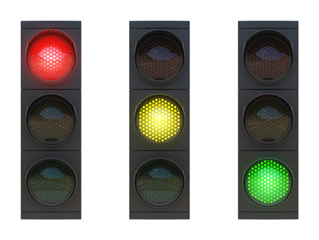 light green: traffic lights