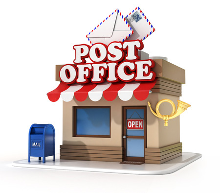 post office 3d illustration