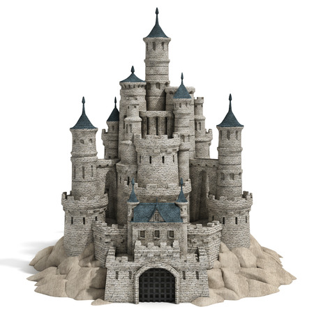 kingdoms: castle 3d illustration