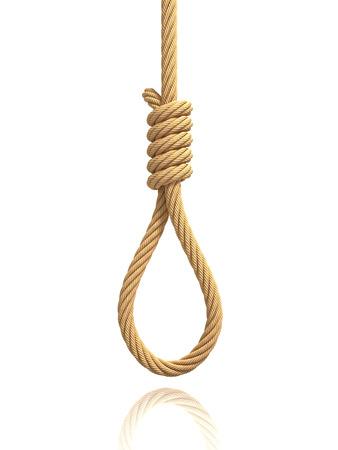 muerte: cuerda con la soga del verdugo