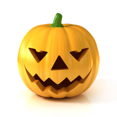 carved pumpkin: Halloween pumpkin 3d illustration