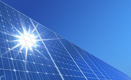 zonnepaneel Stockfoto