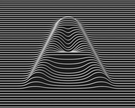 linear 3d font letter A