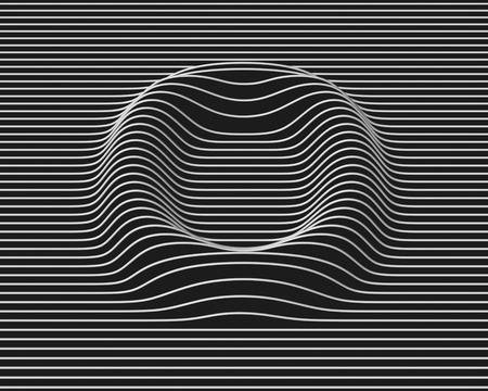 surfaces: linear 3d font letter O