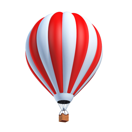 hot air balloon 3d illustration