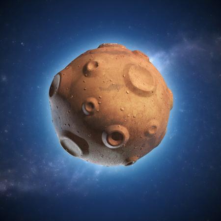 small: meteor 3d illustration Stock Photo