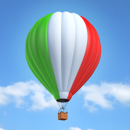 Hot air balloon with Italian flag