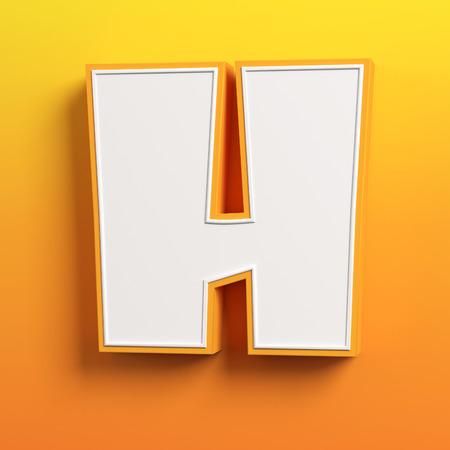 h: cartoon 3d font letter H Stock Photo