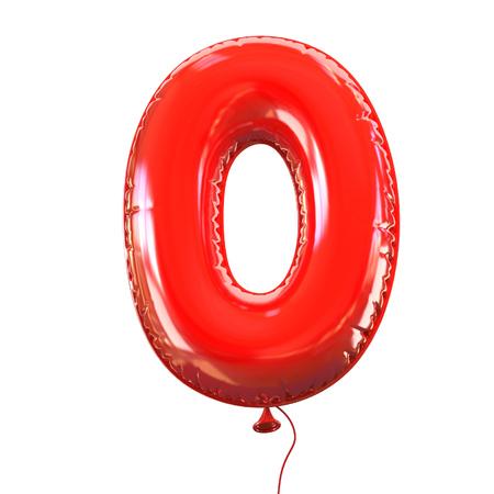 Nummer fünf - 0 Ballonguß Standard-Bild - 46401070