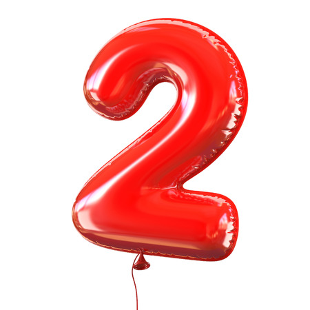 birthday balloon: number five - 2 balloon font