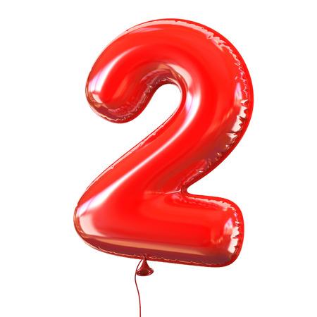 number five - 2 balloon font Reklamní fotografie - 46401102