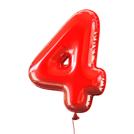 number five - 4 balloon font