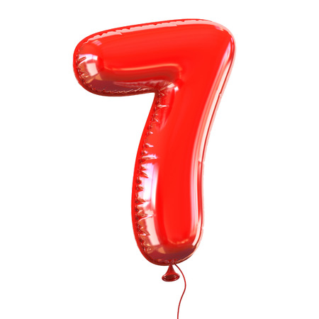 balloons celebration: number five - 7 balloon font