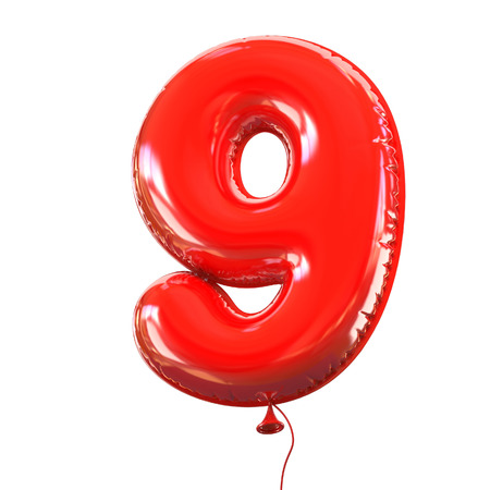 party balloons: number five - 9 balloon font