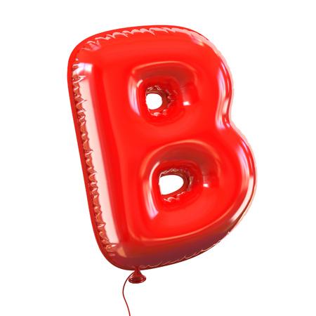 letter B balloon font