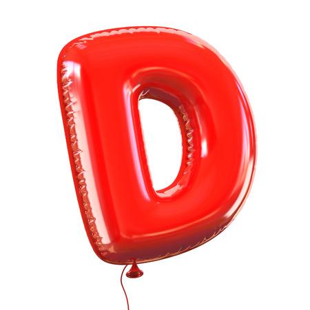 balloon: letter D balloon font