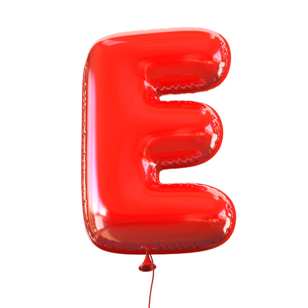 balloons celebration: letter E balloon font