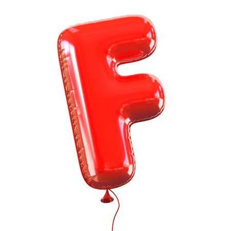 helium balloon: letter F balloon font