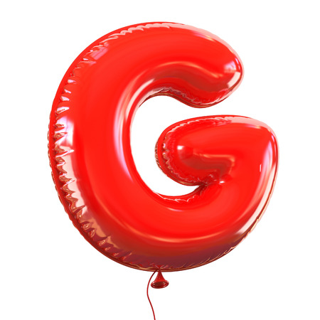 education cartoon: letter G balloon font