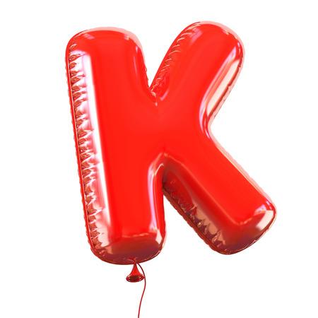 letter K balloon font