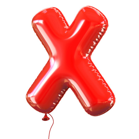birthday balloon: letter X balloon font