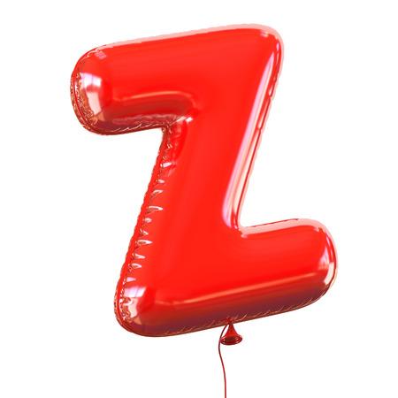 helium balloon: letter Z balloon font