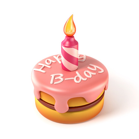 gateau anniversaire: gâteau d'anniversaire 3d icon