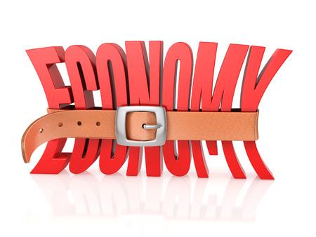 tighten: economy with tighten belt