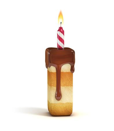 Gâteau d'anniversaire lettre de la police, je Banque d'images - 46401341