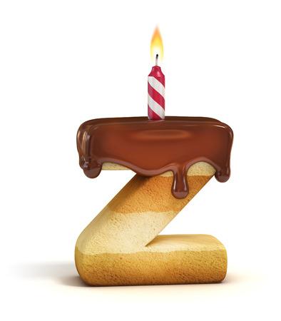 torta compleanno: Torta di carattere lettera Z Archivio Fotografico