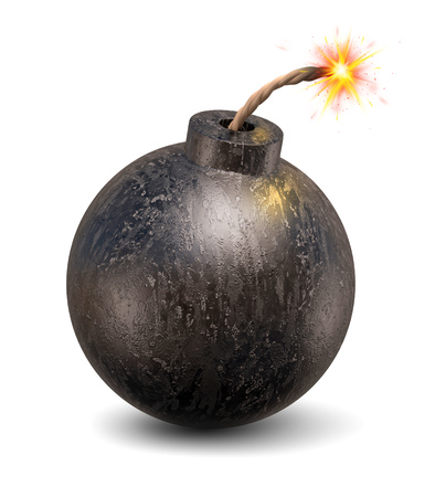 cartoon bomb 3d illustration Stockfoto