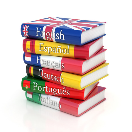 dictionaries, learning foreign language 스톡 콘텐츠
