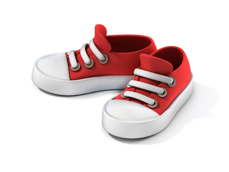 shoes cartoon: cartoon sneakers 3d illustration