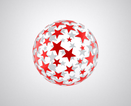 star pattern: sphere with star pattern