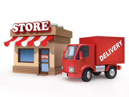 commercials: store and delivery van
