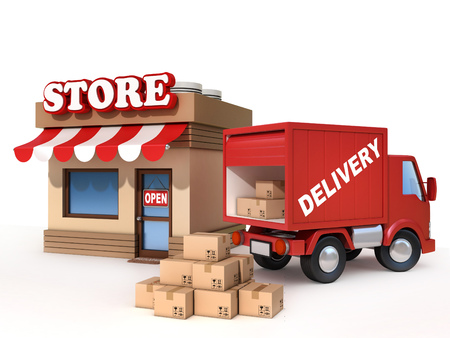 delivery van: store and delivery van